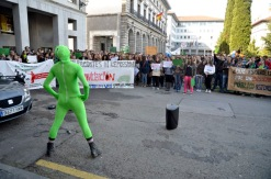 'Super Pública', arengando a los estudiantes. Imagen de Pablo Gómez
