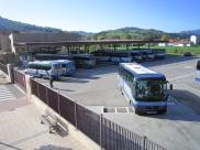 La estación de autobuses, en servicios mínimos. Imagen de Nicolás B. Ortiz