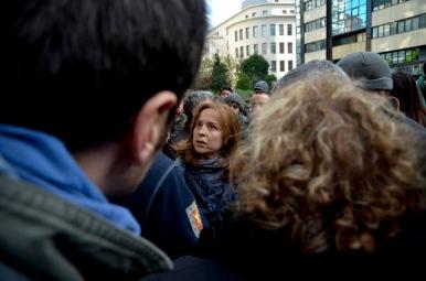 Un momento de la marcha de los piquetes. Imagen de Pablo Gómez