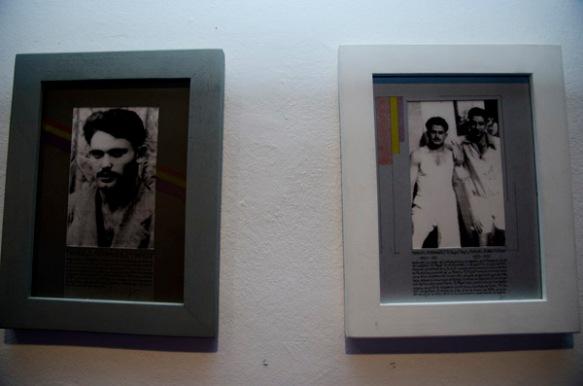 Dos retratos de la exposición. Imagen de Pablo Gómez