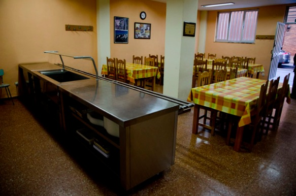 Parte de las dependencias del Comedor Solidario. Imagen de Pablo Gómez