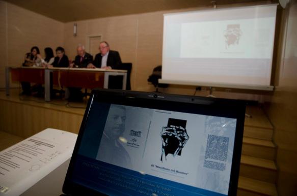 Un momento de la presentación del texto. Imagen de Pablo Gómez