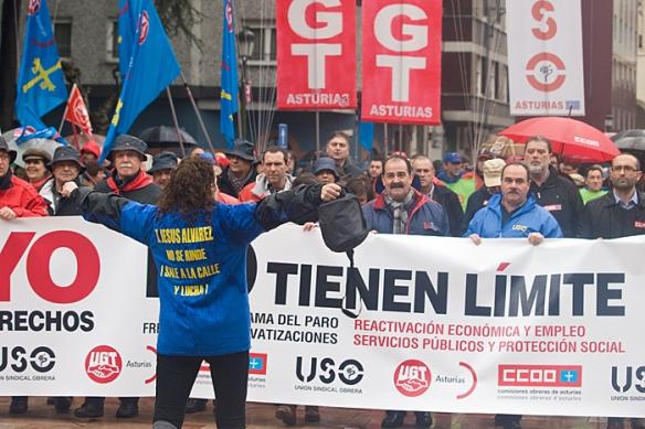 Manifestación del 1 de mayo en Langreo. Imagen de Javier Rodríguez Alonso