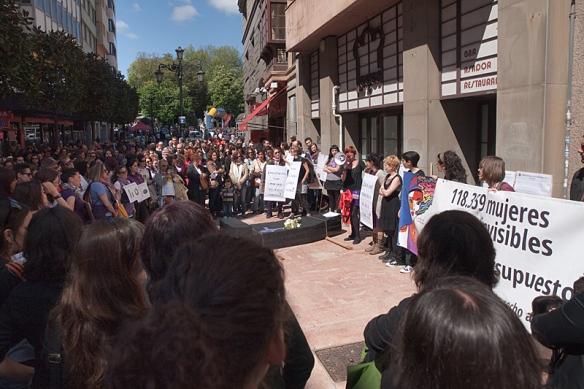 Un momento de la concentración contra la reforma de la Ley del Aborto. Imagen de Javier Rodríguez Alonso