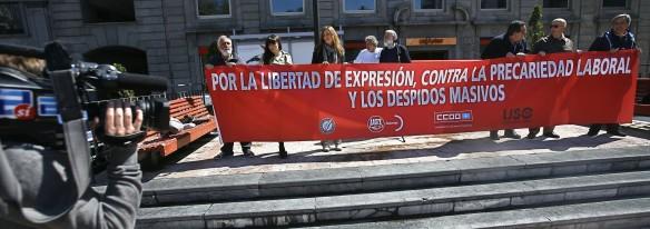 Pancarta de los convocantes. Imagen de Pablo Lorenzana