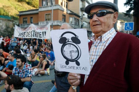 Un manifestante en la marcha de Mieres. Imagen de Pablo Lorenzana