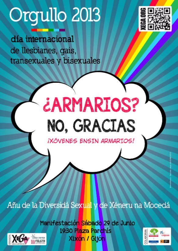 Cartel del Día Intenacional del Arguyu LGTB 2013, de Xega.
