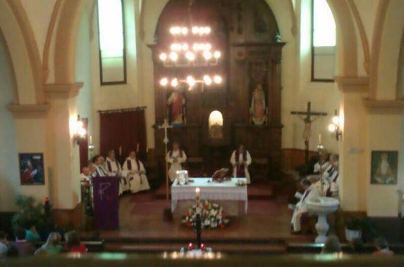 Un momento de la misa oficiada este fin de semana