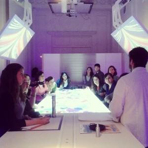 Mesa de taller-laboratorio. Foto: E. Urquiola