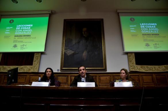 Presentación de la conferencia. Imagen de Pablo Gómez