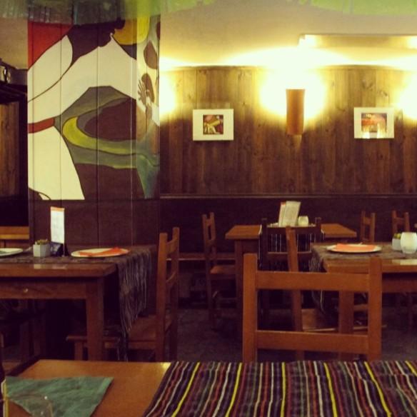 Interior del restaurante Águila o Sol / Foto: E. Urquiola