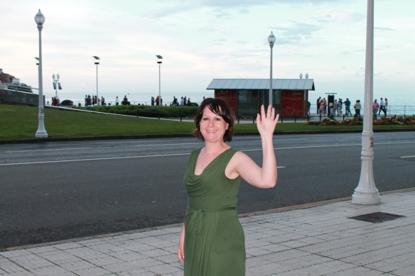 Adrienne Stern, el pasado fin de semana, en Gijón. Imagen de Bernaldo Barrena