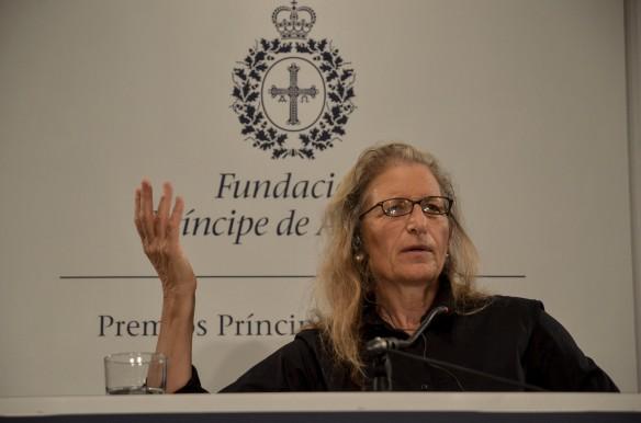 Annie leibovitz, durante la rueda de prensa en el Hotel Reconquista. Imagen de Pablo Gómez